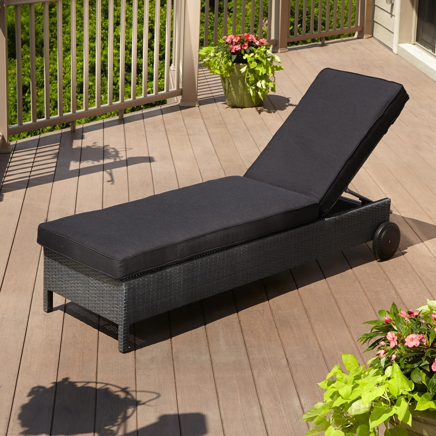 Most Current Inexpensive Outdoor Chaise Lounge Chairs Inside Convertible Chair : Outdoor Garden Chair Cushions Lounge Seat (View 14 of 15)