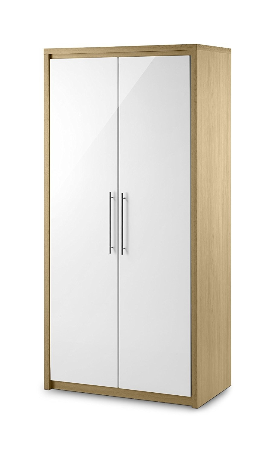 Most Current Julian Bowen Stockholm 2 Door All Hanging Wardrobe, Oak/white For Cheap 2 Door Wardrobes (View 12 of 15)