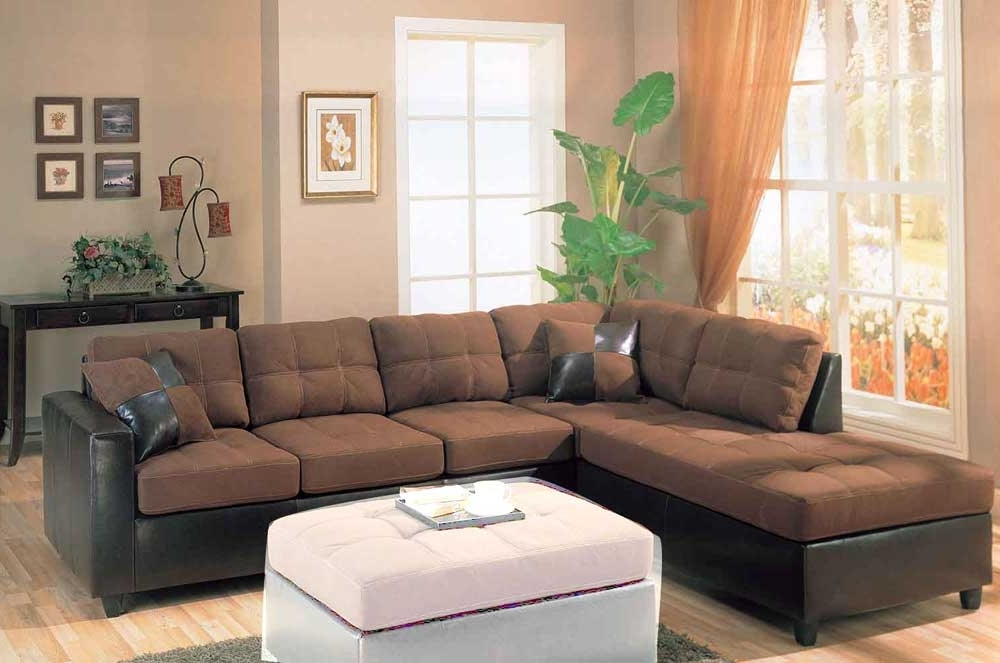 Most Current Leather And Suede Sectional Sofas Inside Cool Microfiber Sectional Sofa — Fabrizio Design : Microfiber (View 3 of 10)