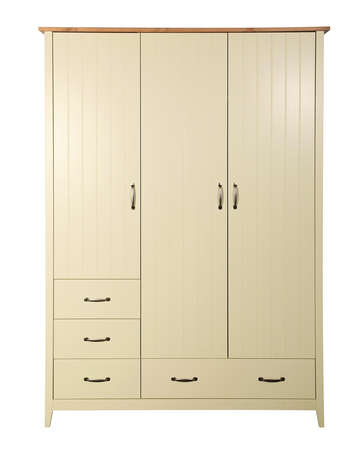 Most Current Norfolk 3 Door Wardrobe Cream From The Original Factory Shop Throughout Cream Wardrobes (View 8 of 15)