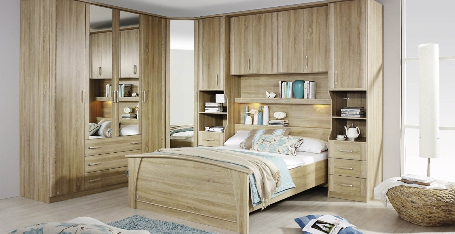 Most Current Over Bed Wardrobes Sets In Unique Over Bed Wardrobe Set – Badotcom (View 8 of 15)