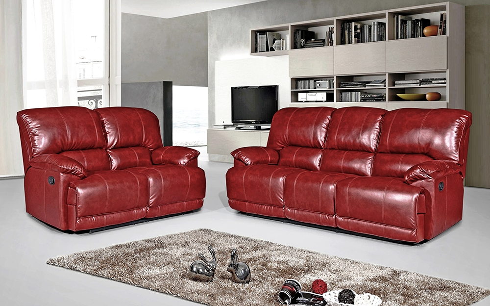 Most Current Pippa 3 Seater Leather Reclining Sofa – Red – We Do Sofas Inside Red Leather Reclining Sofas And Loveseats (View 9 of 10)