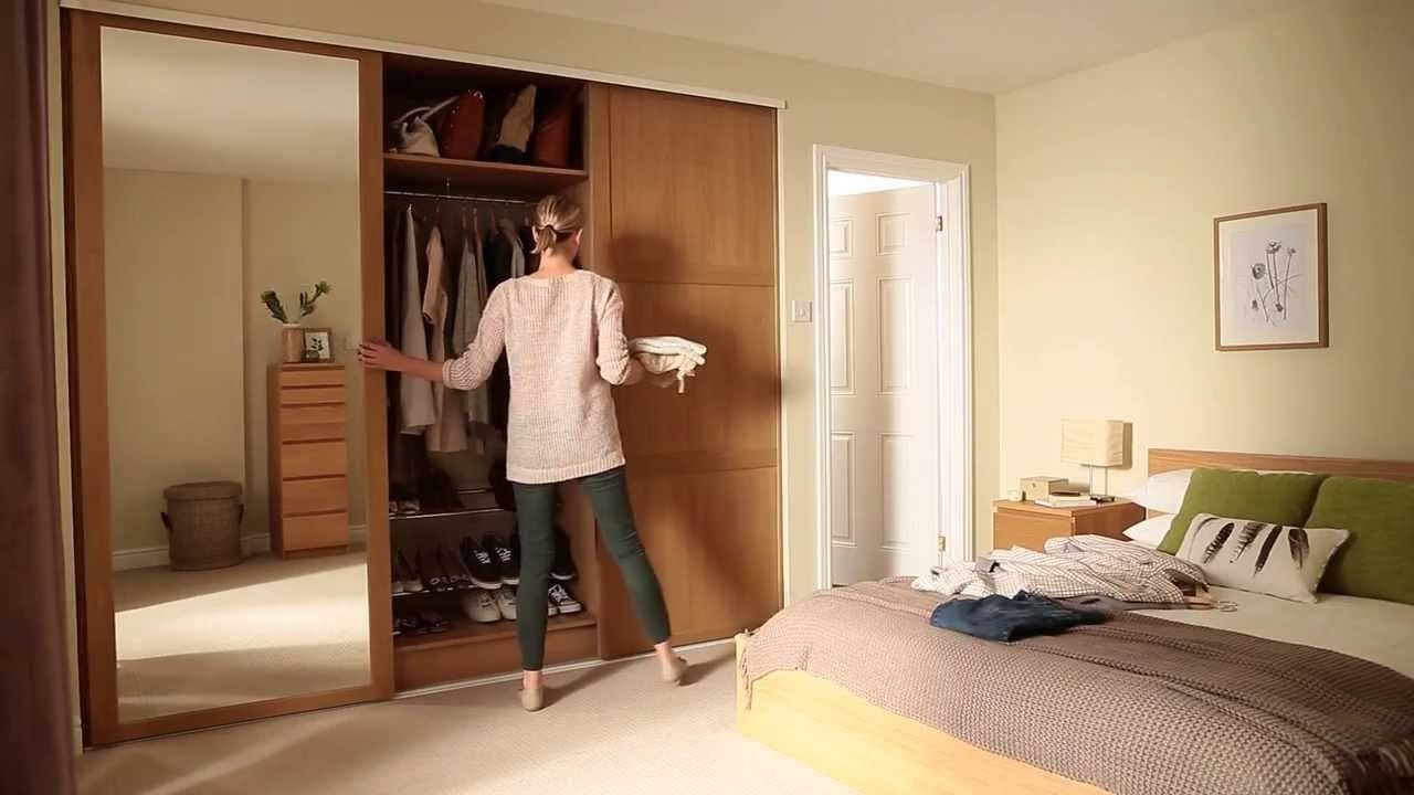 Most Current Shaker Panel And Mirror Door Oak – Sliding Wardrobe Doors From Inside Oak Mirrored Wardrobes (View 2 of 15)
