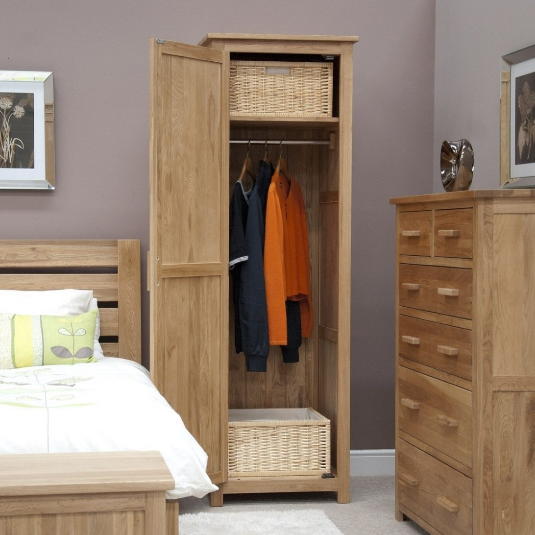 Most Current Single Wardrobe With Drawers And Mirror Oak White Shelves This Is Within Single Oak Wardrobes With Drawers (View 5 of 15)