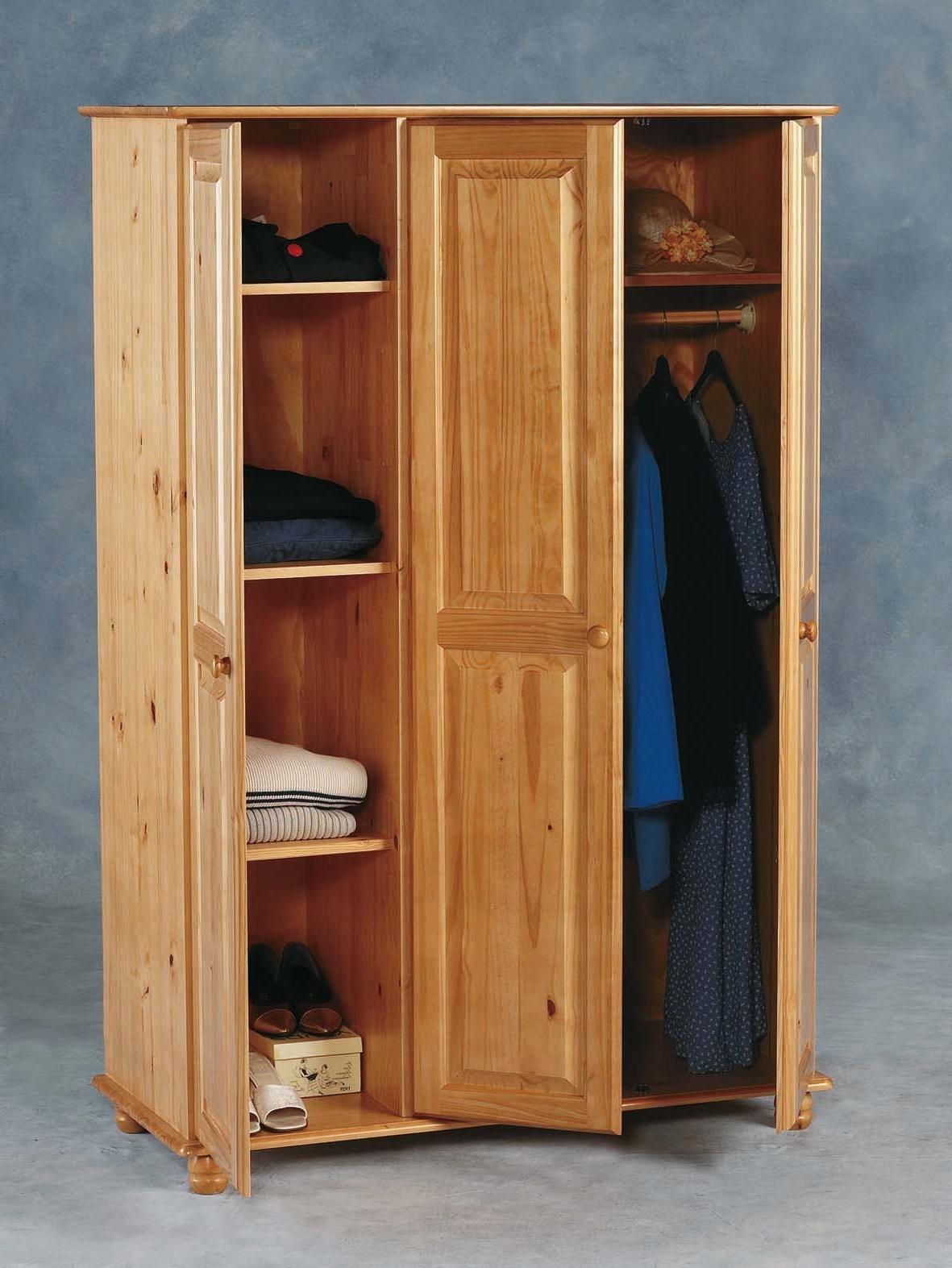 Most Current Sol Pine 3 Door Wardrobe (flat Pack) – £ (View 13 of 15)