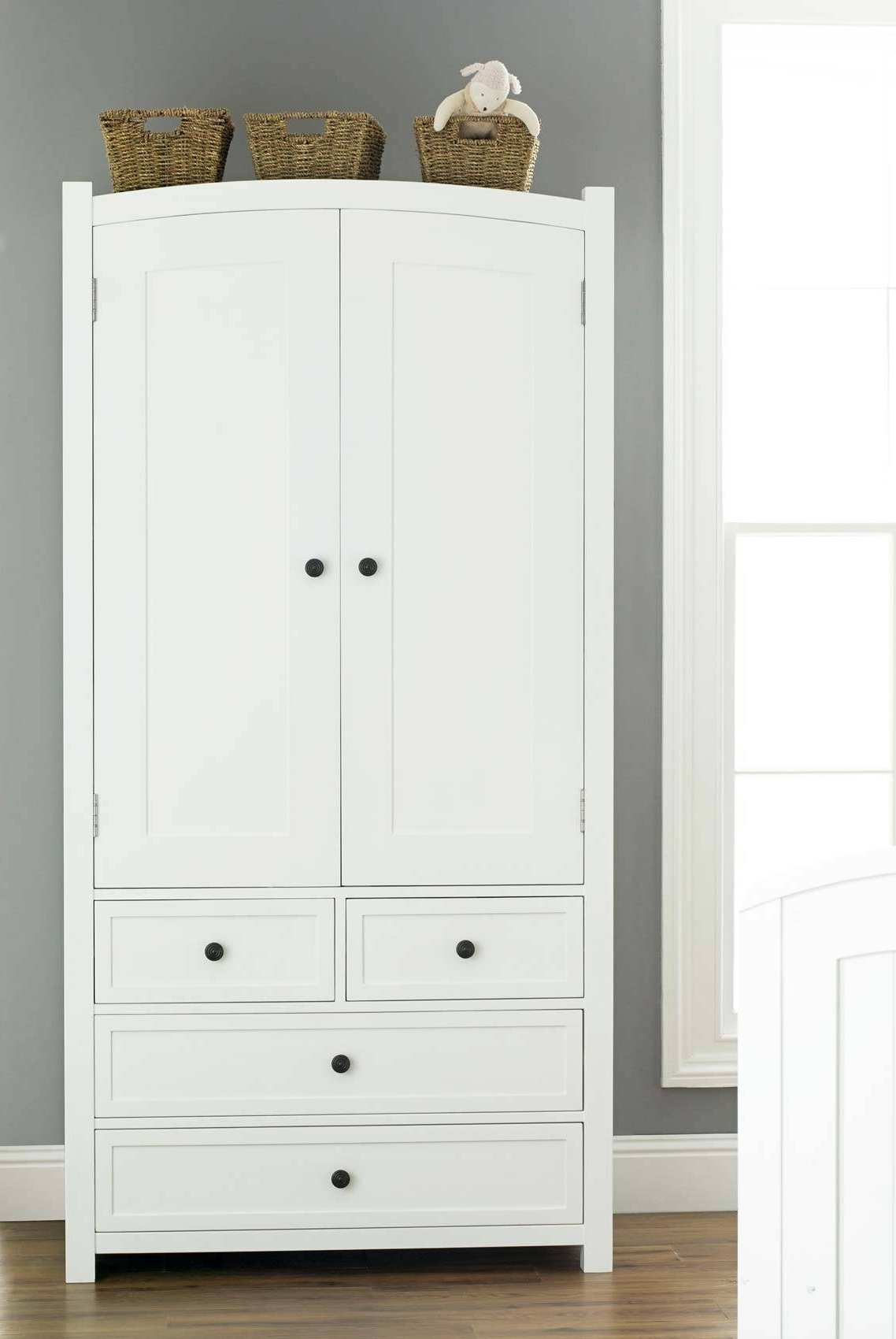 Most Current Solid Wood White Wardrobe With Drawers • Drawer Design Pertaining To White Wardrobes With Drawers (View 7 of 15)