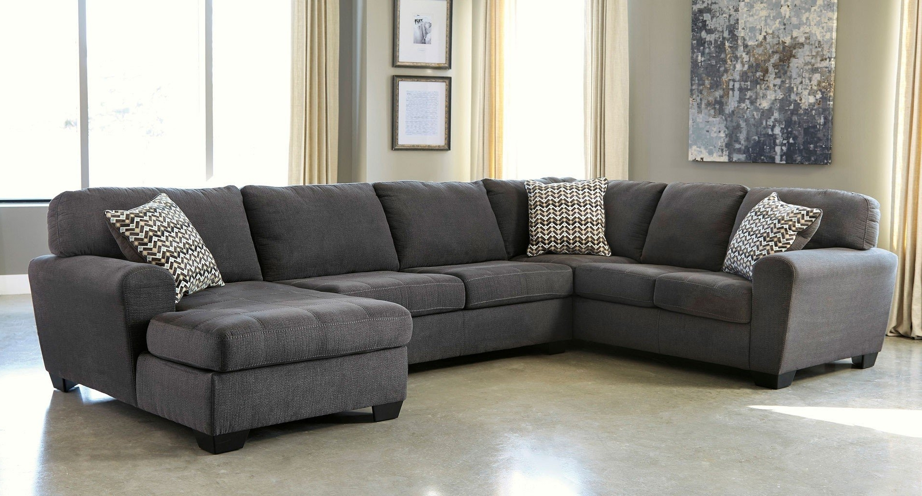 Most Current Sorenton Slate Right Facing Chaise Sectional – Sectionals – Living Regarding Right Facing Chaise Sectionals (View 2 of 15)