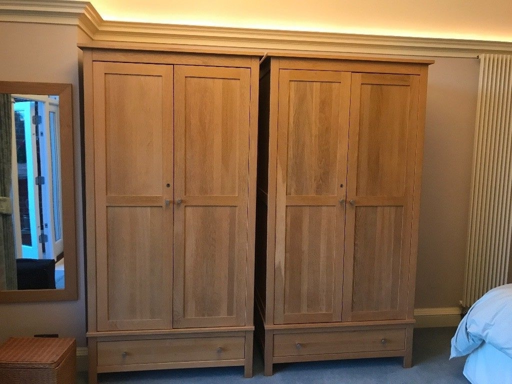 Most Current Two Oak Wardrobes For Sale – 100 Pounds Each (180 For Both With Regard To Oak Wardrobes For Sale (View 5 of 15)