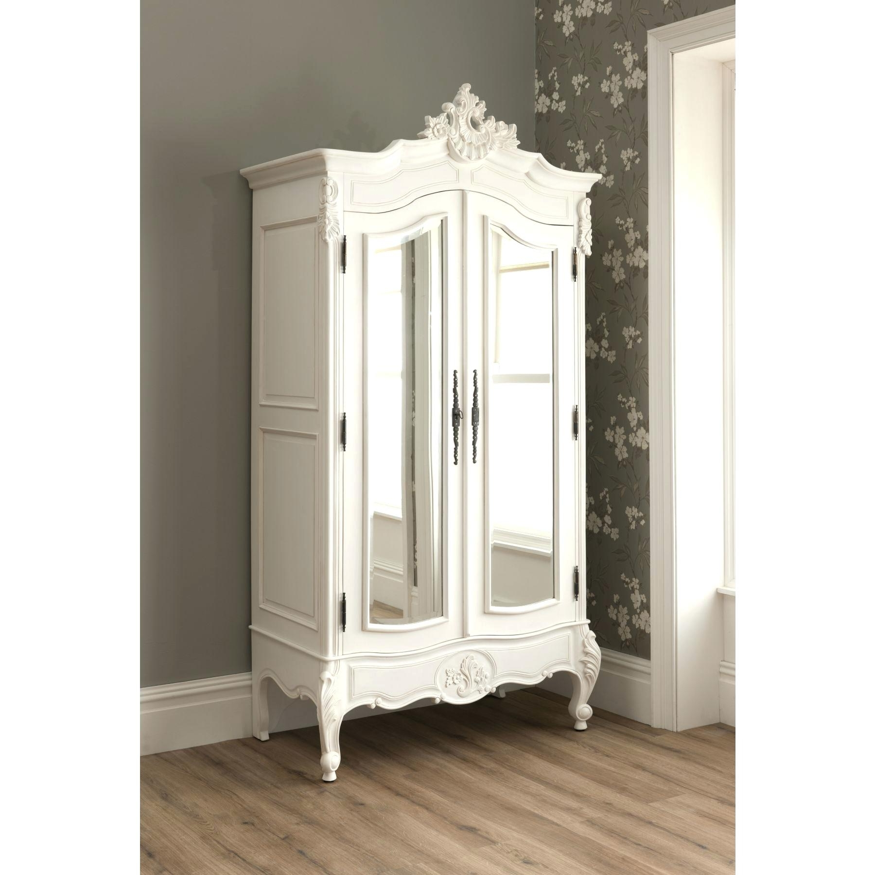 Most Current White Armoire Wardrobe S Cheap French With Mirror – Brashmagazine For Wicker Armoire Wardrobes (View 8 of 15)