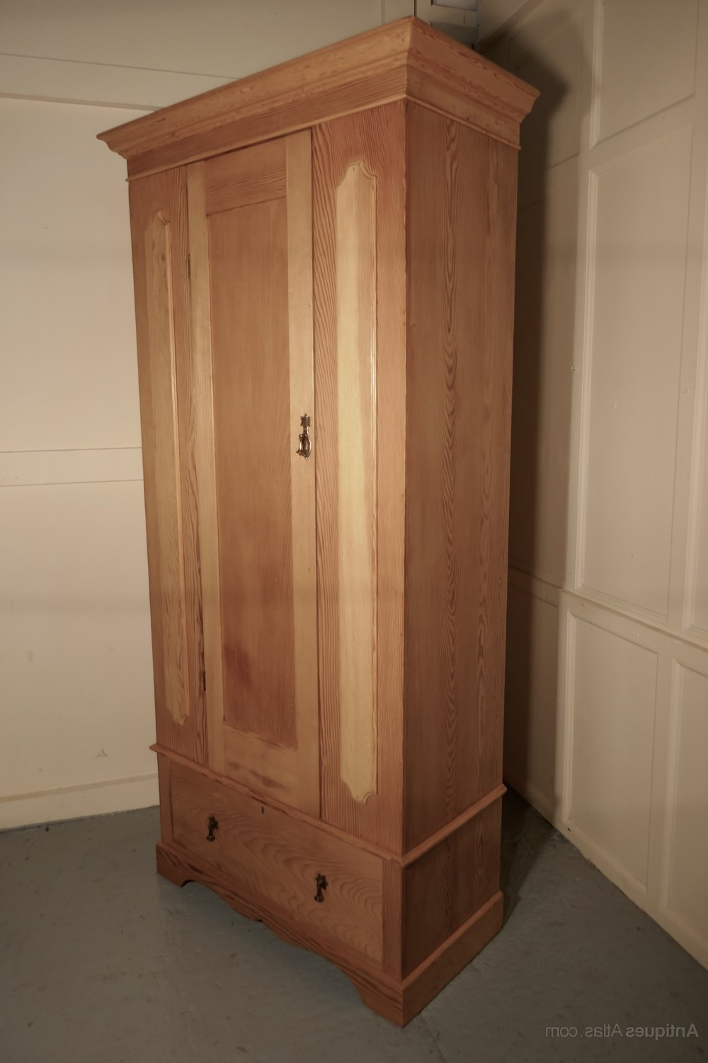 Most Popular A Victorian Stripped Pine Wardrobe – Antiques Atlas Regarding Victorian Pine Wardrobes (View 5 of 15)