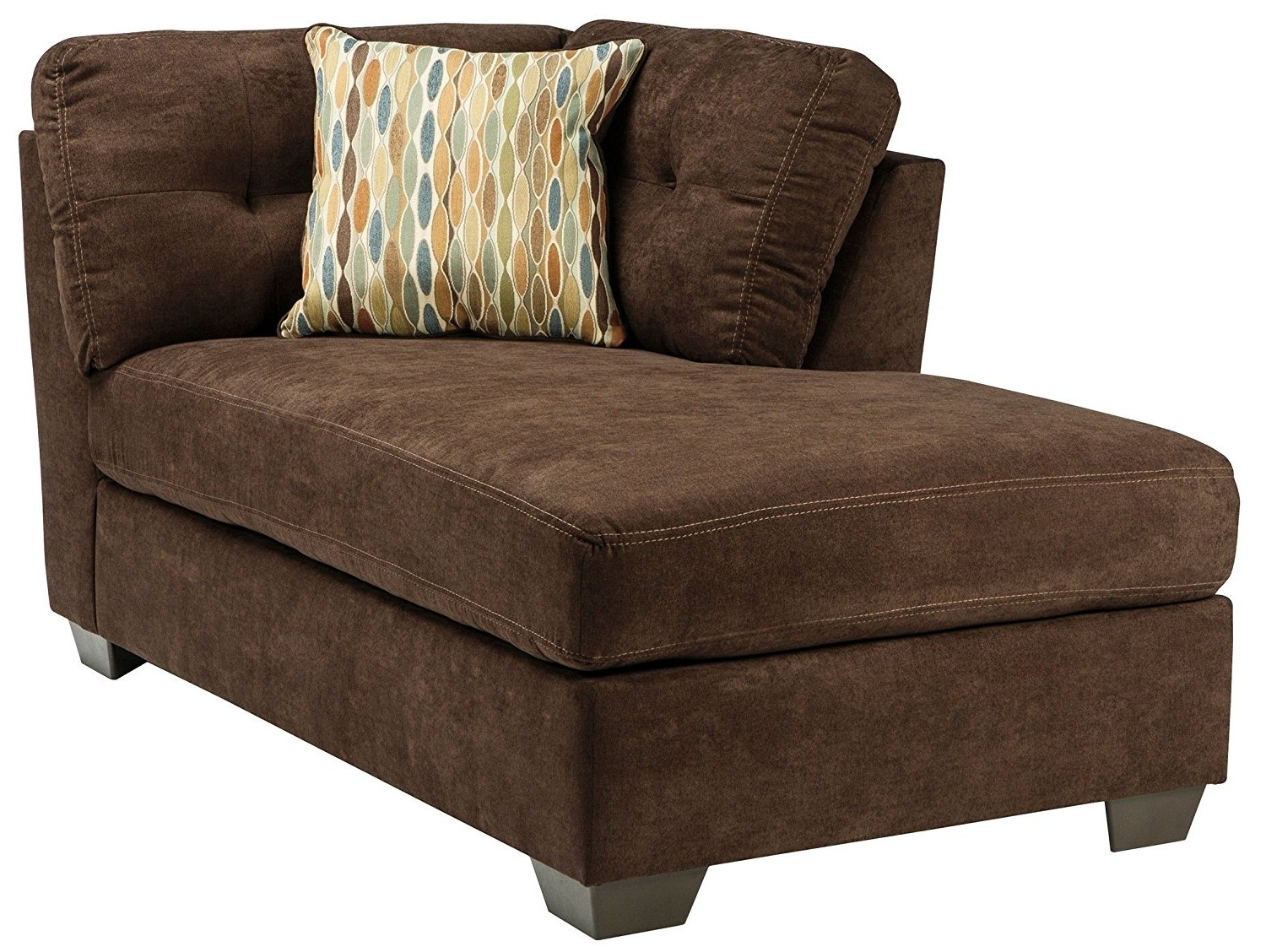 Most Popular Amazon: Ashley Delta City Left Corner Chaise Lounge In Inside Ashley Chaise Lounges (View 10 of 15)