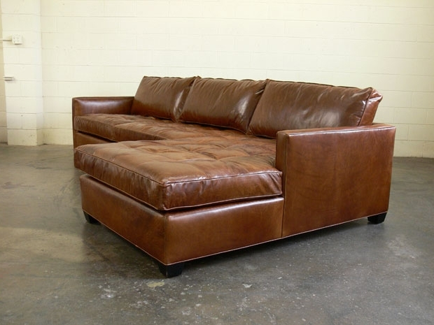 Most Popular Arizona Leather Sofa Chaise Sectional With Matching Cocktail Pertaining To Leather Sectionals With Chaise And Ottoman (View 9 of 10)