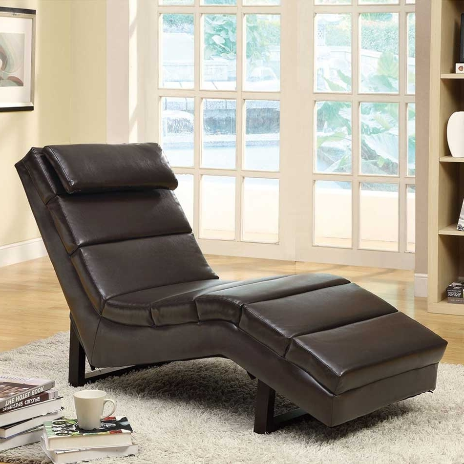 Most Popular Brown Leather Chaise Lounges Within Simple Cleaning Brown Leather Chaise Lounge – Mtc Home Design (View 9 of 15)