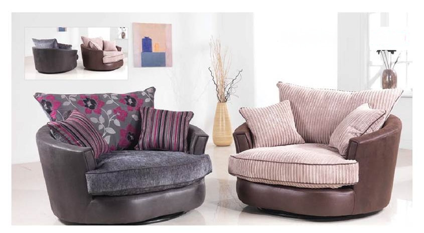 Most Popular Brown Swivel Chair Corner Sofa And Club Bulay With Regard To In Sofas With Swivel Chair (View 4 of 10)