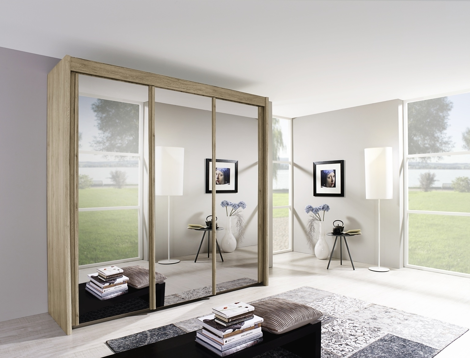 Most Popular Buy Rauch Imperial Sliding Wardrobe – Front With Mirror – Cfs Uk For Rauch Sliding Wardrobes (View 6 of 15)