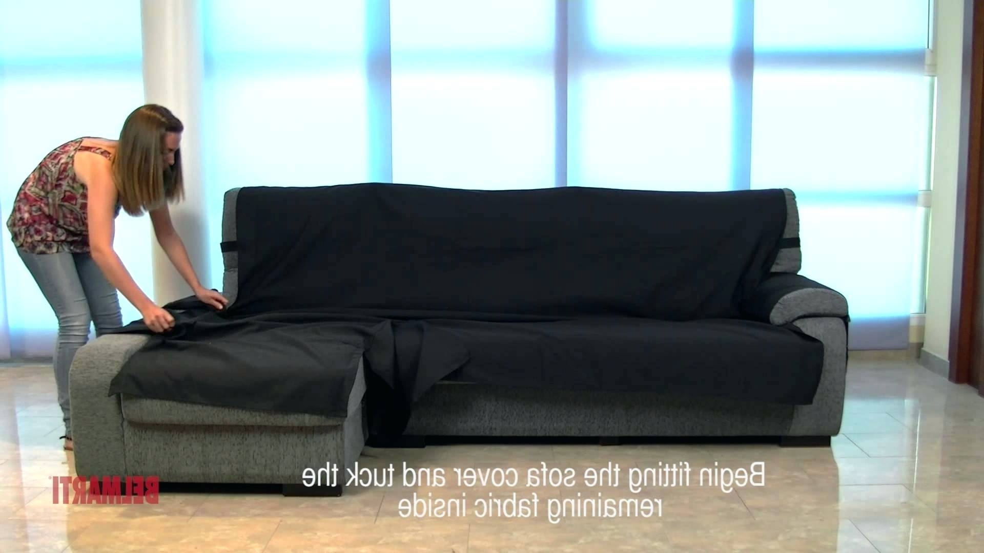 Most Popular Chaise Lounge Sofa Covers With Chaise : Couch With Chaise Cover Sofa Slipcover Lounge Chair (View 12 of 15)