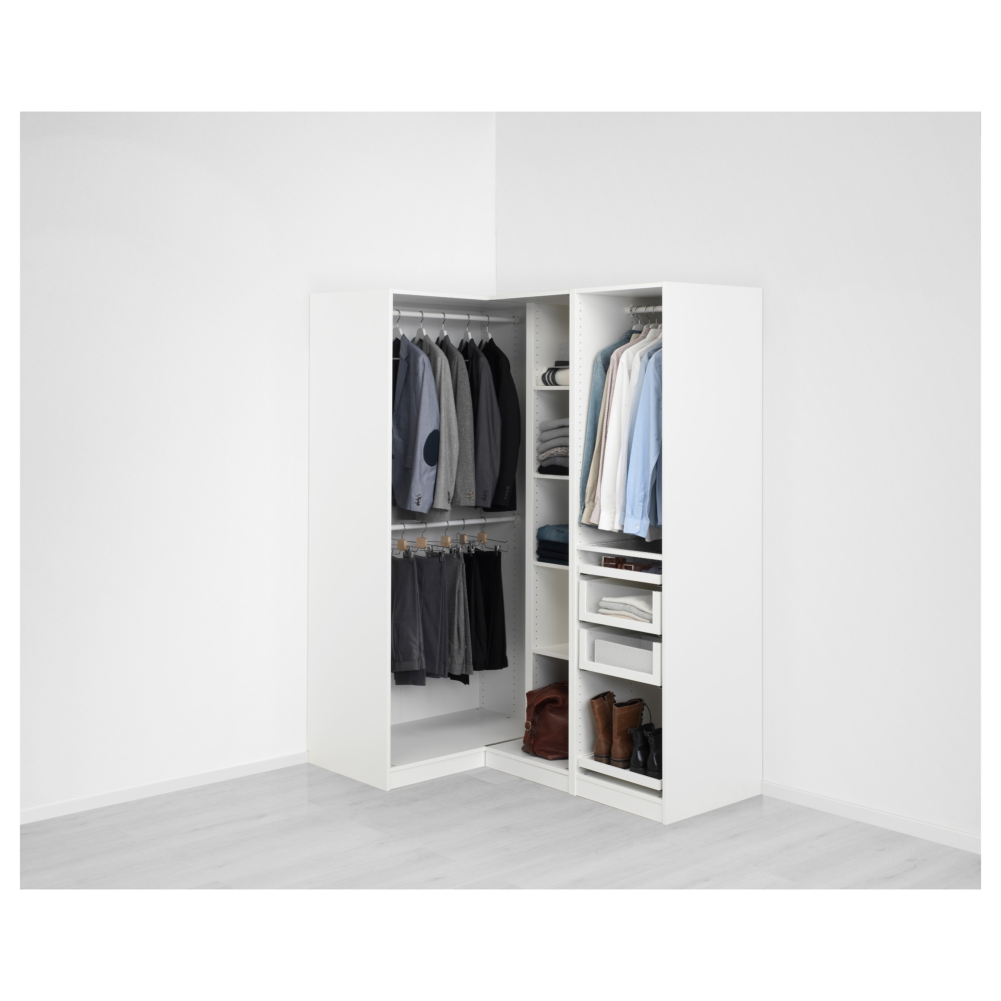 "Most Popular Cheap Corner Wardrobes Pertaining To Pax Corner Wardrobe – 63 1/8/43 1/2x79 1/4 "" – Ikea (View 11 of 15)"