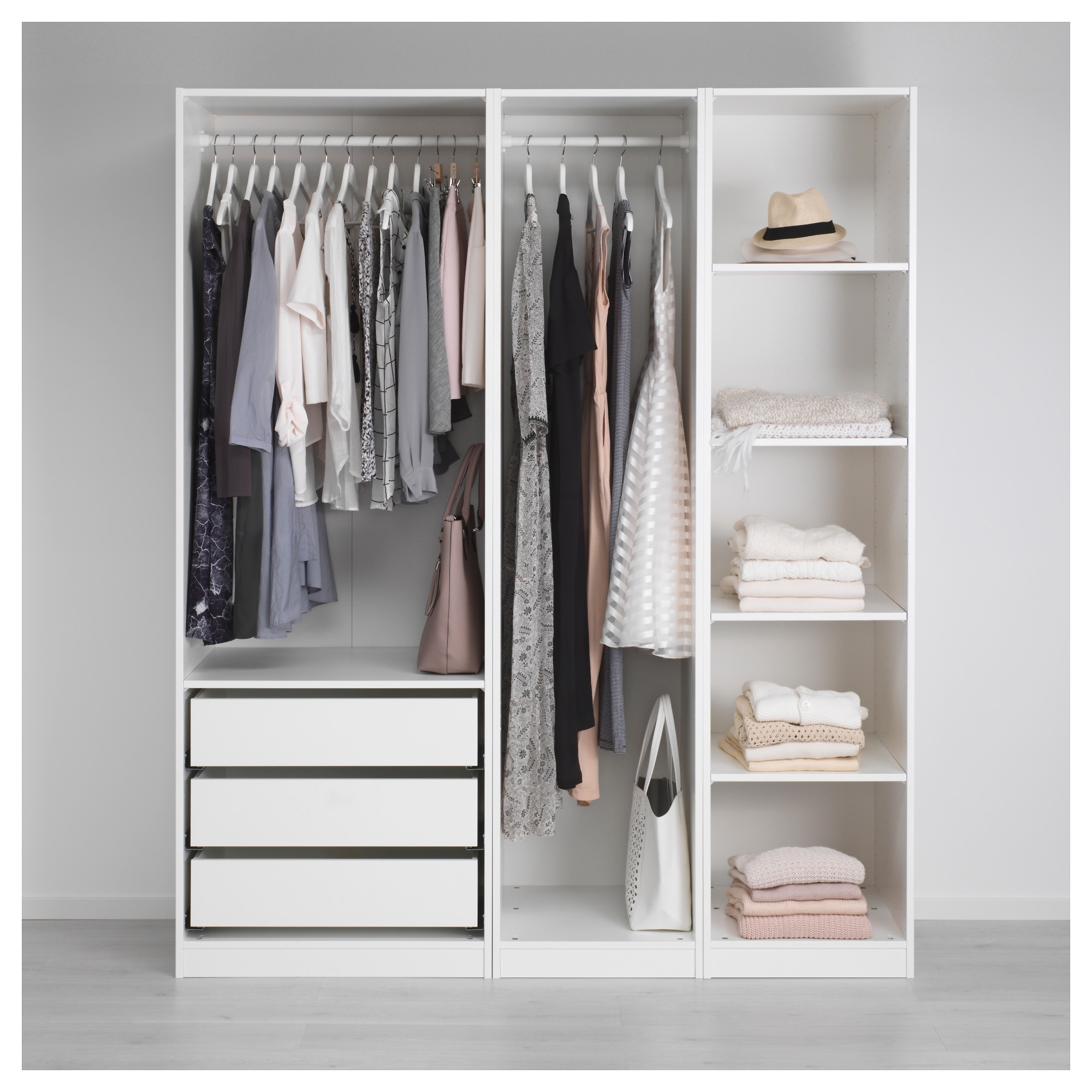 Most Popular Cheap Double Wardrobes Regarding Nightstand : Beautiful Double Rail Wardrobes Ikea Amazing Tall (View 9 of 15)