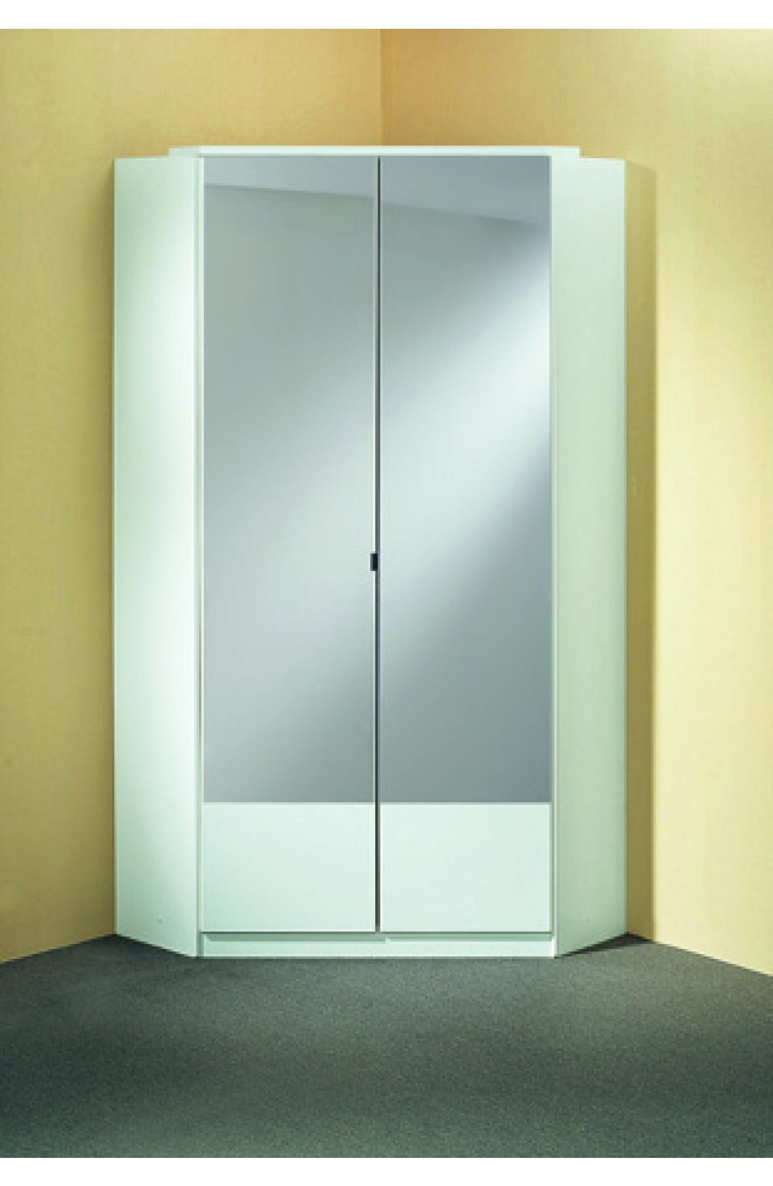 Most Popular Corner Mirror Wardrobes For Slumberhaus 'imago' German Made Modern Alpine White & Mirror  (View 9 of 15)