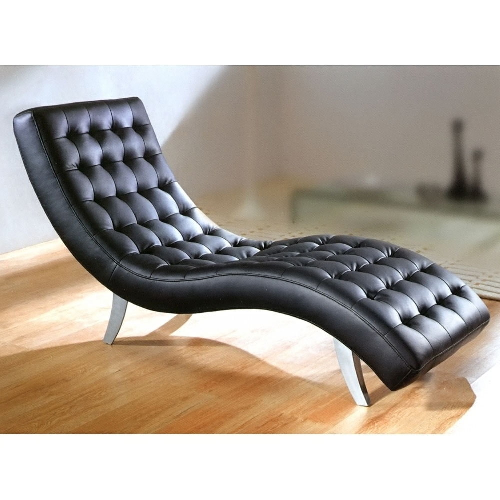 Most Popular Creative Of Black Leather Chaise Lounge With 1000 Images About Regarding Black Leather Chaise Lounges (View 10 of 15)