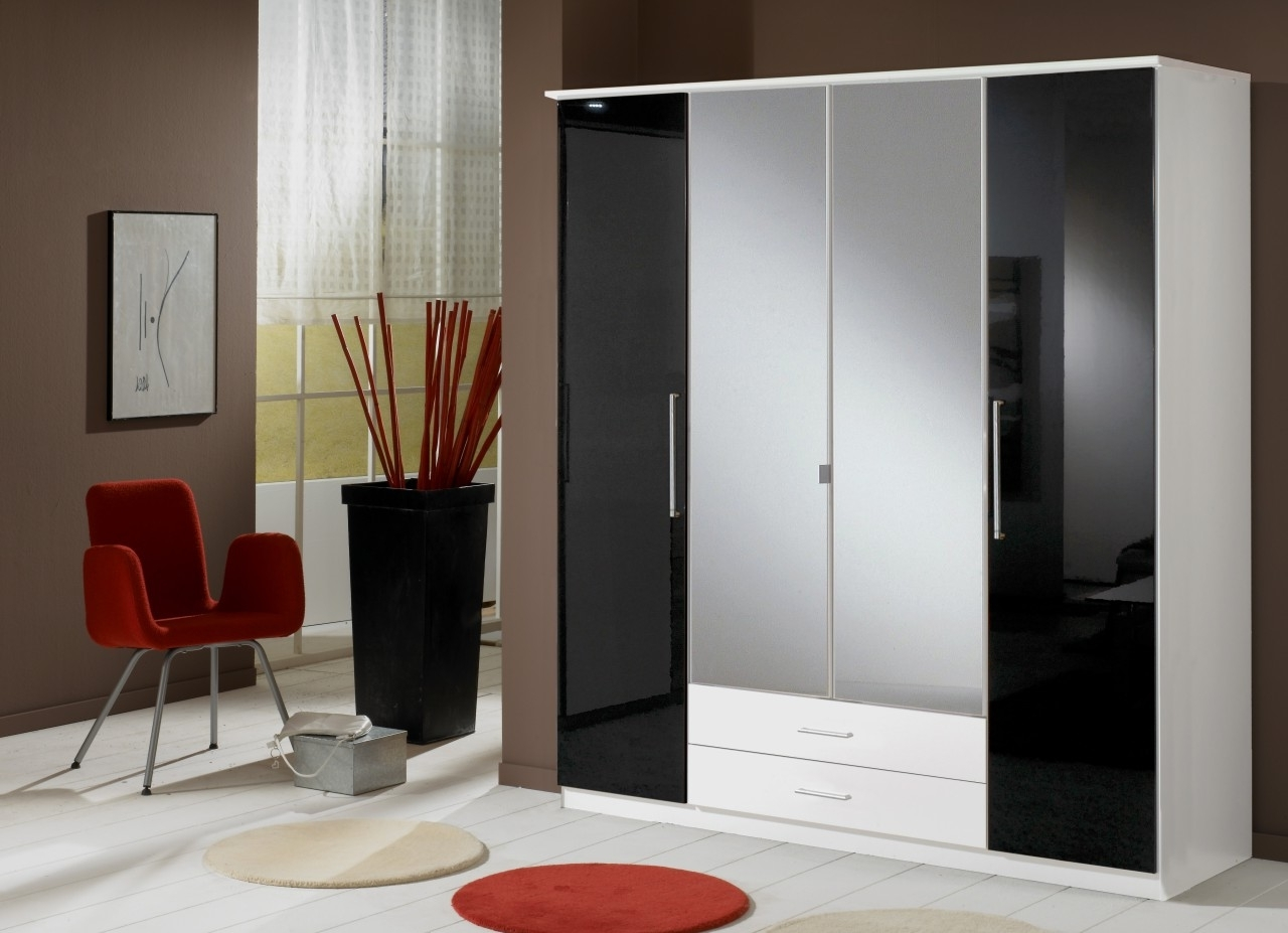 Most Popular Gloss Black Wardrobes In White High Gloss Sliding Wardrobe Doors Black Wardrobes That Can (View 10 of 15)