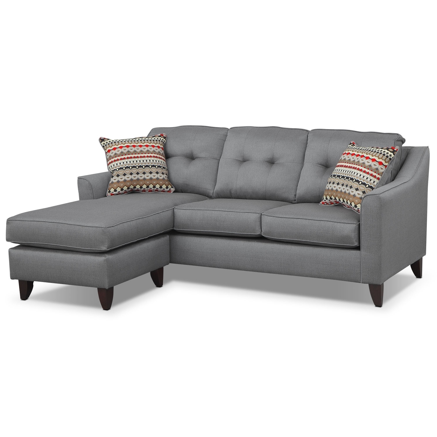 Most Popular Grey Sofa Chaises With Regard To Sofa Design Ideas: Dark Couch Grey Sofa Chaise Light Design Light (View 5 of 15)