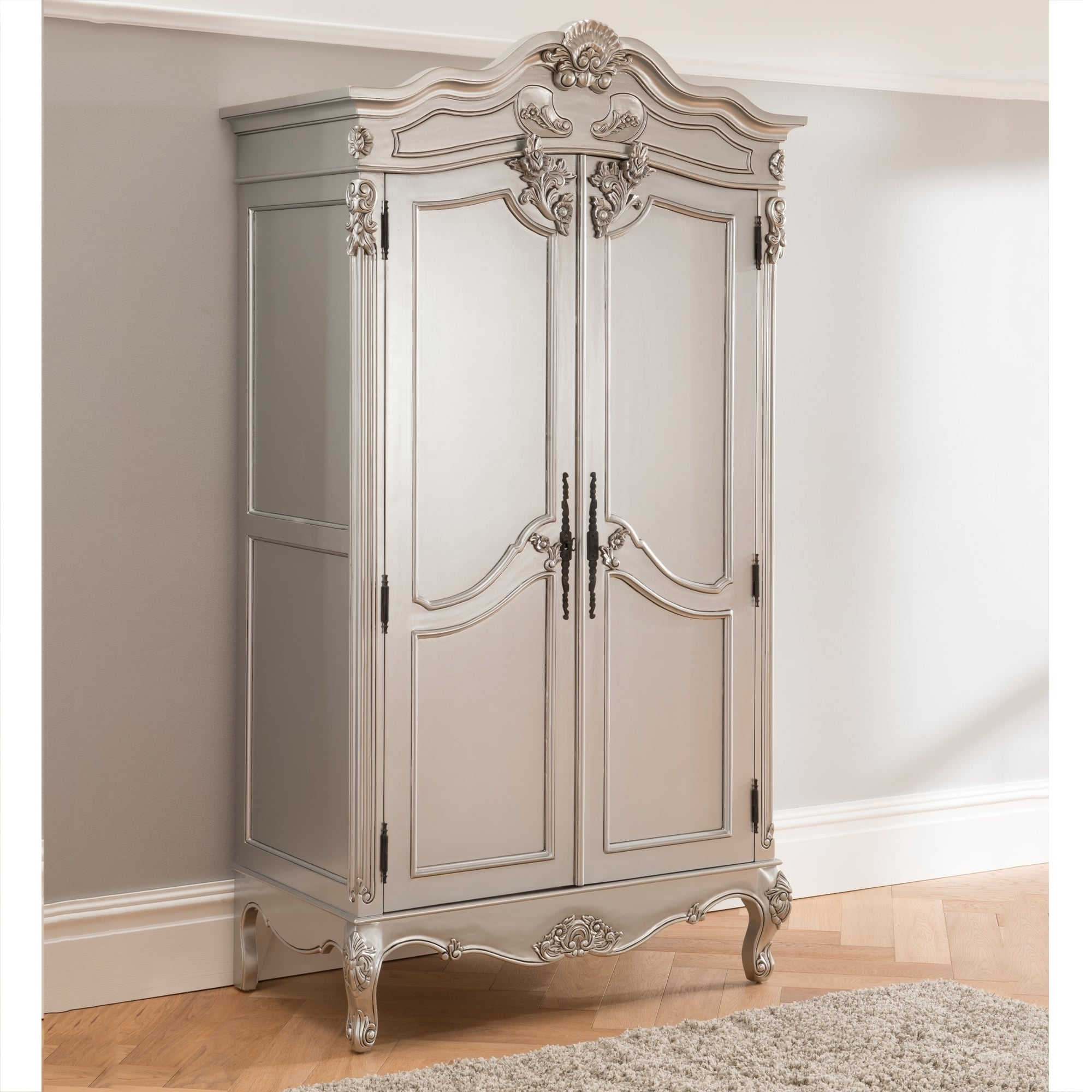 Most Popular Home Design : Graceful French Shabby Chic Wardrobes Vintage For Vintage Style Wardrobes (View 14 of 15)