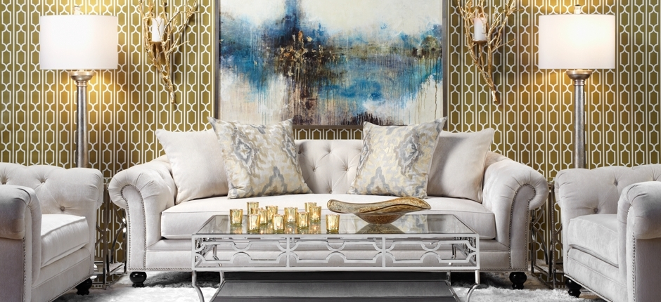 Most Popular Inspiredthis Updated Elegance Look On @z Gallerie From Z In Affordable Tufted Sofas (View 11 of 15)