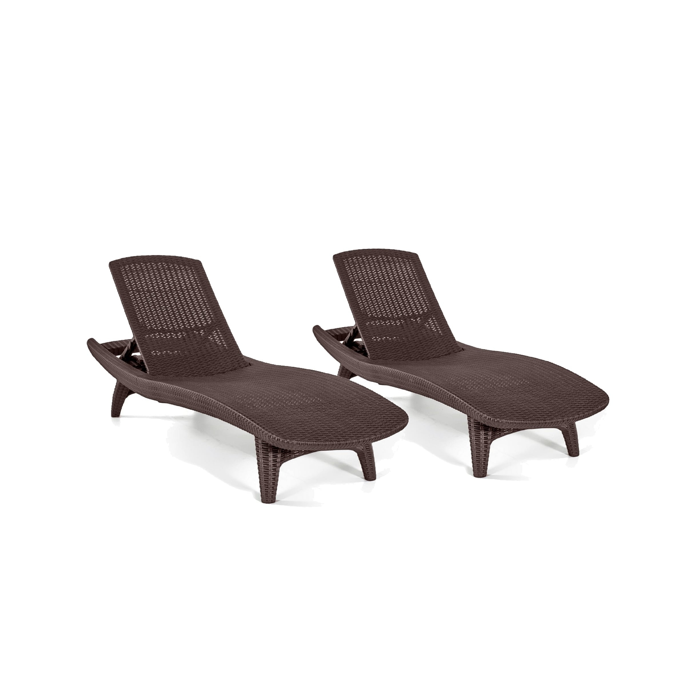 Most Popular Keter Chaise Lounges With Regard To Keter Pacific All Weather Outdoor Patio Brown Chaise Lounge (Set (View 11 of 15)
