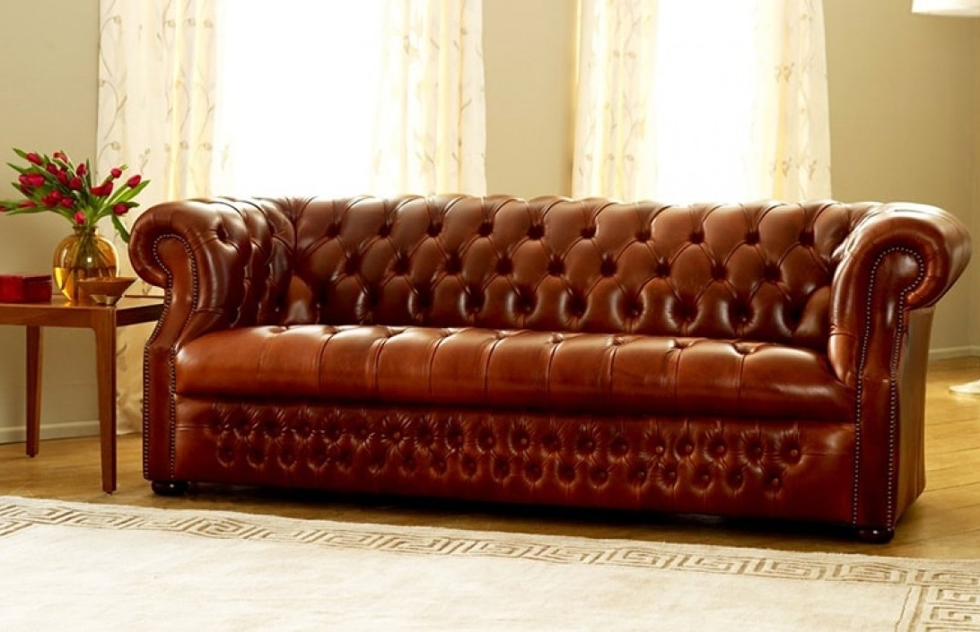 Most Popular Leather Chesterfield Sofas With Regard To Stunning Brown Leather Chesterfield Sofa The Chesterfield Co (View 5 of 10)