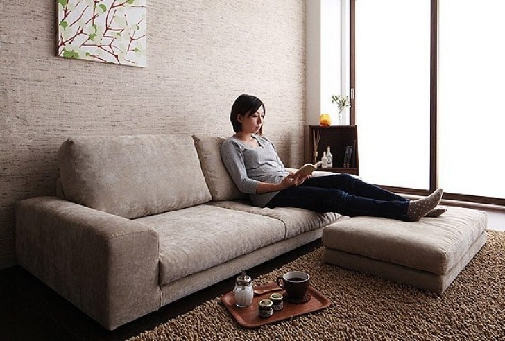 Most Popular Low Sofas In Elegant Low Sectional Sofa – Buildsimplehome (View 2 of 10)