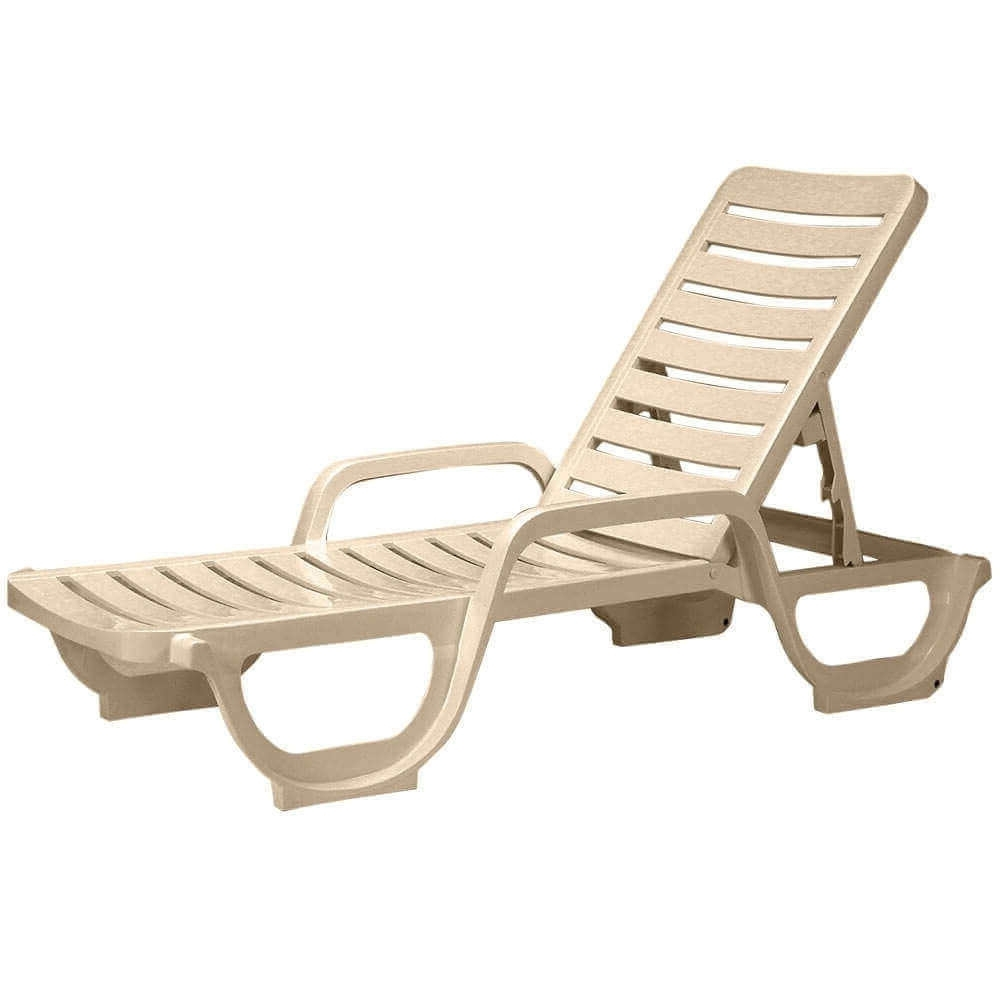 Most Popular Plastic Chaise Lounges Regarding Bahia Plastic Resin Commercial Grade Pool Chaise Lounge (View 5 of 15)