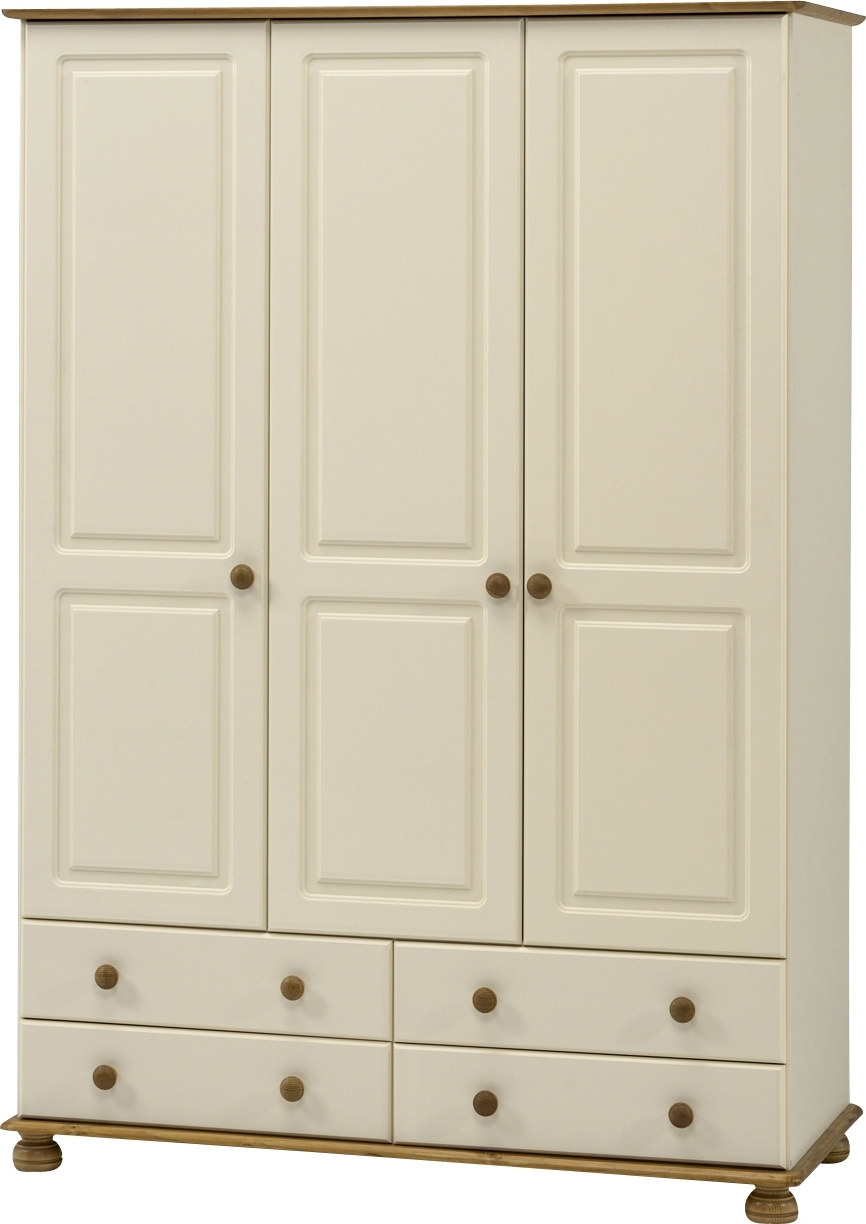 Most Popular Richmond Cream 3 Door 4 Drawer Wardrobe (View 11 of 15)