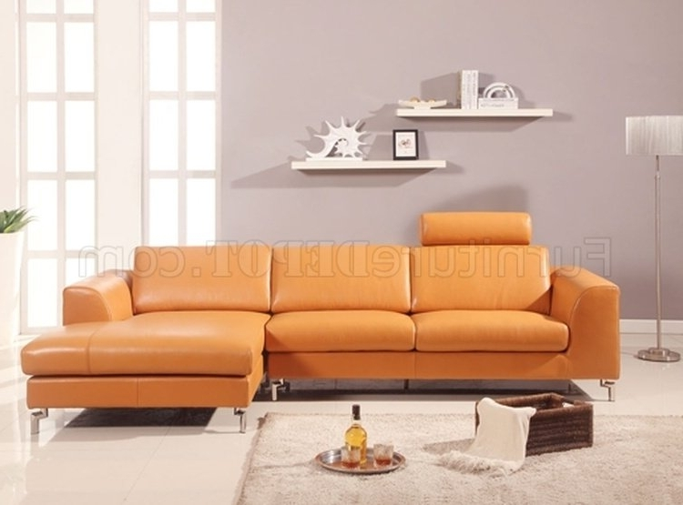 Most Popular Sectional Sofa In Camel Leatherwhiteline Imports Intended For Camel Sectional Sofas (View 9 of 10)