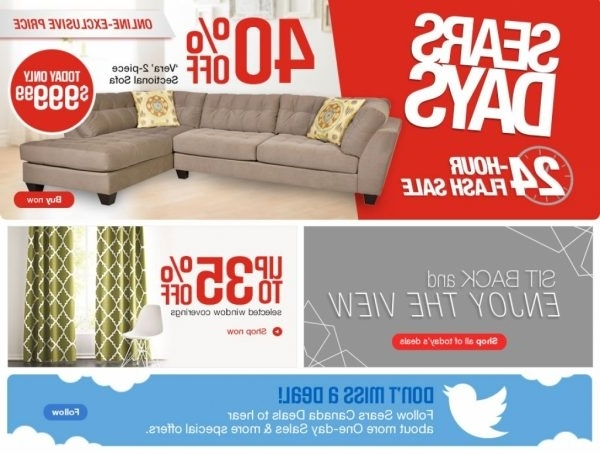 Most Popular Sectional Sofas Sears Canada (View 5 of 10)