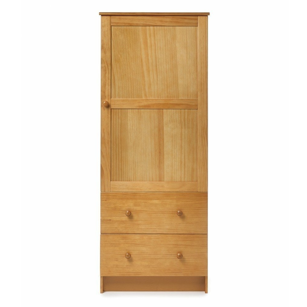 Most Popular Single Door Pine Wardrobes Throughout Obaby Single Wardrobe (Country Pine): Amazon.co (View 7 of 15)