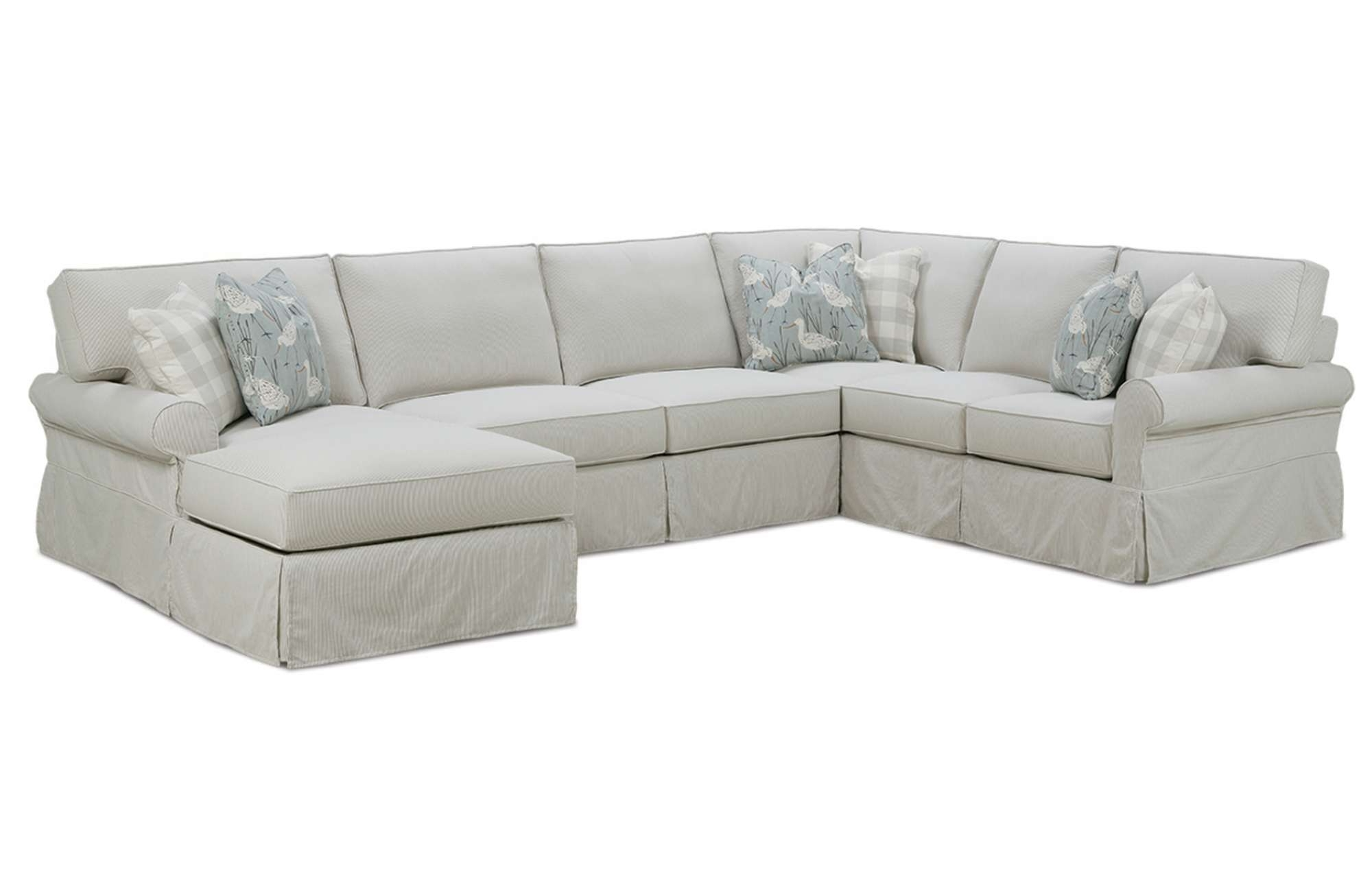 Most Popular Slipcovered Sofas With Chaise Regarding Easton Slipcover Sectionalrowe Furniture (View 10 of 15)