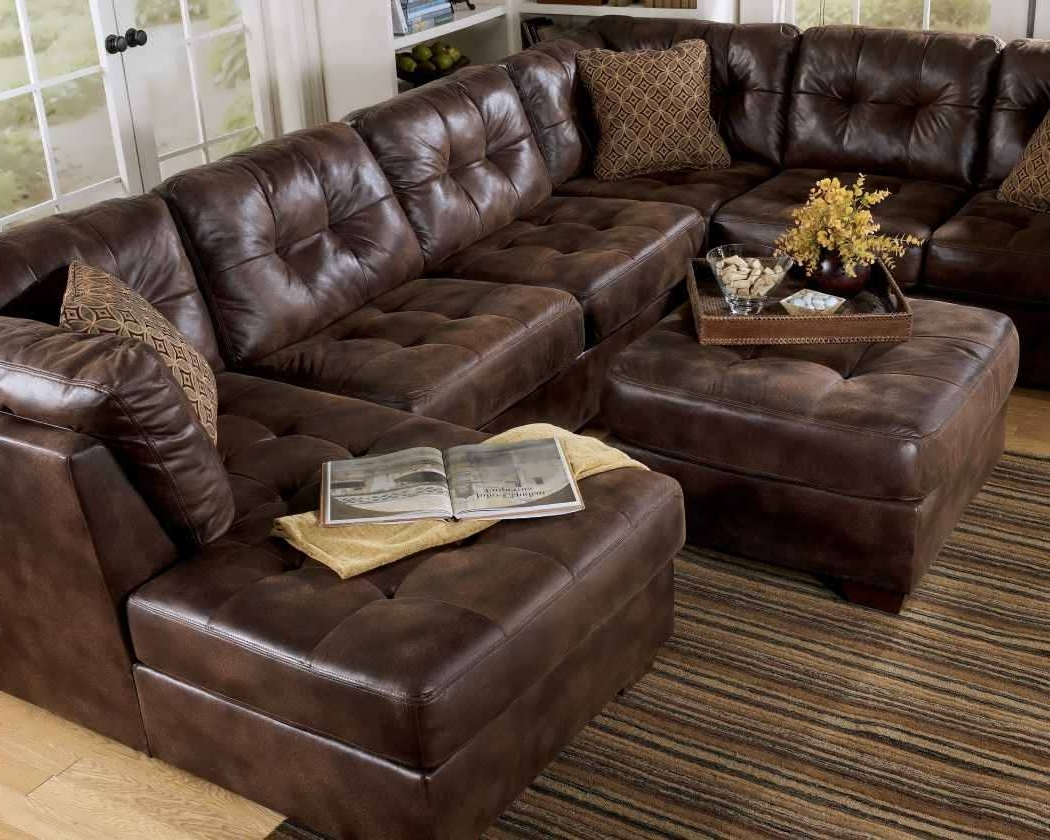Most Popular Sofa : Brown Sectional With Chaise Leather Sectional Sofa White Throughout Genuine Leather Sectionals With Chaise (View 10 of 15)