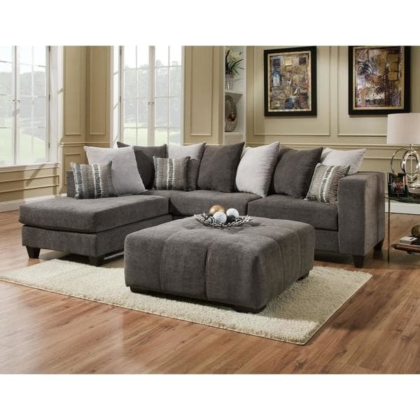 Most Popular Sofa Trendz Daytona 2 Pc Sectional & Ottoman Set – Free Shipping Regarding Cheap Sectionals With Ottoman (View 2 of 10)