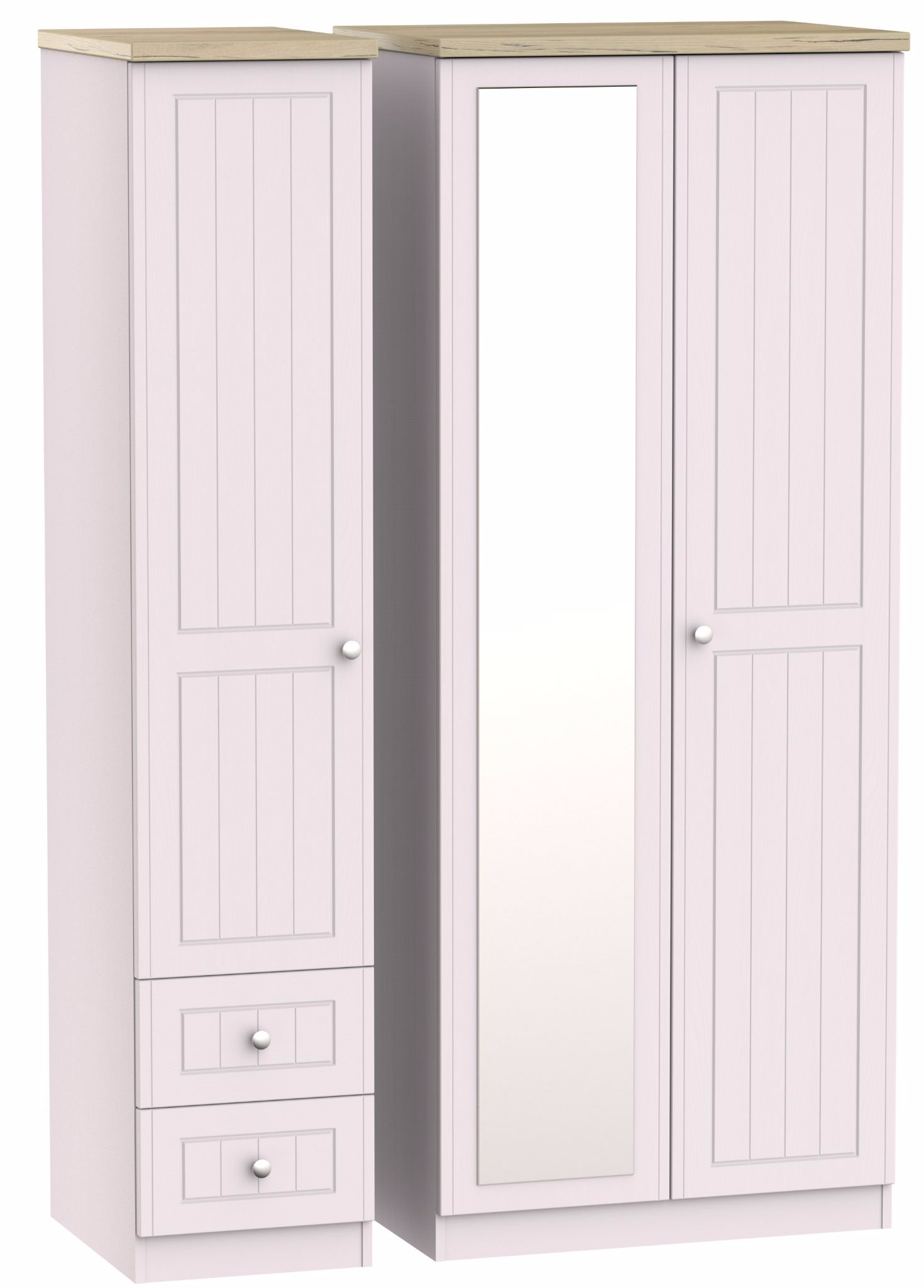 Most Popular Triple Mirrored Wardrobes With Regard To Vienna Tall Triple Mirrored Wardrobe With Drawer Wardrobe (View 2 of 15)