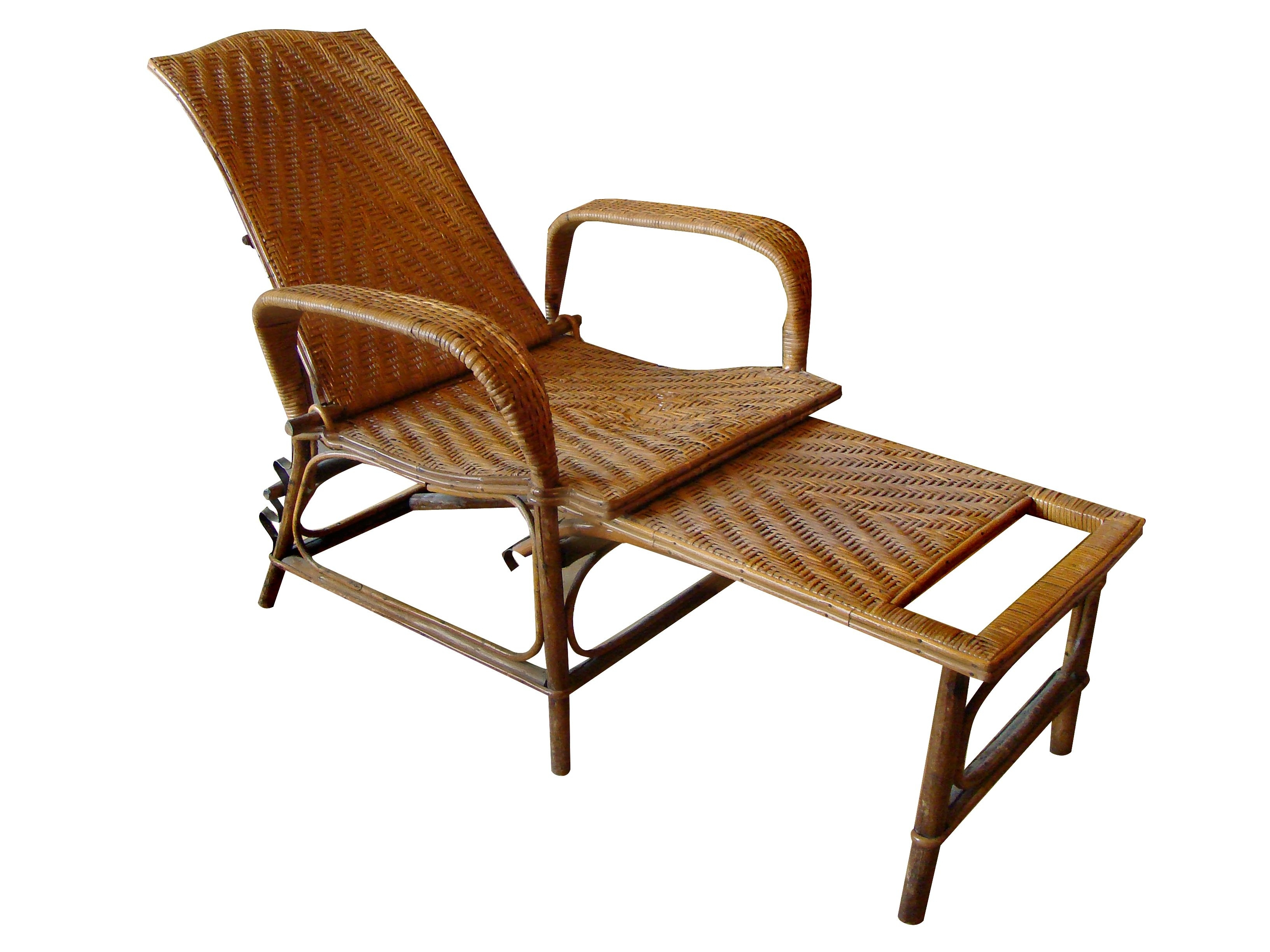 Most Popular Une Chaise Lounges For Vintage Rattan And Bamboo Chaise Lounge (View 8 of 15)