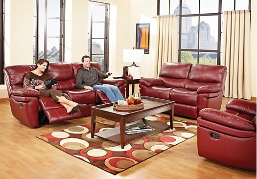 Most Popular Unique Red Leather Living Room Furniture 22 On Sofa Design Ideas Intended For Red Leather Couches For Living Room (View 9 of 10)