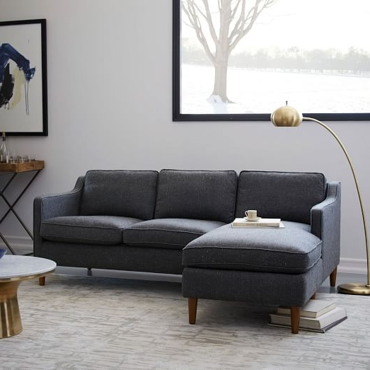 Most Popular West Elm Sectional Sofas With Hamilton 2 Piece Chaise Sectional (View 3 of 10)