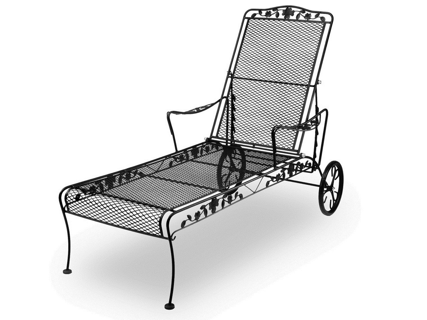 Most Popular Wrought Iron Chaise Lounge Chairs • Lounge Chairs Ideas In Wrought Iron Outdoor Chaise Lounge Chairs (View 7 of 15)