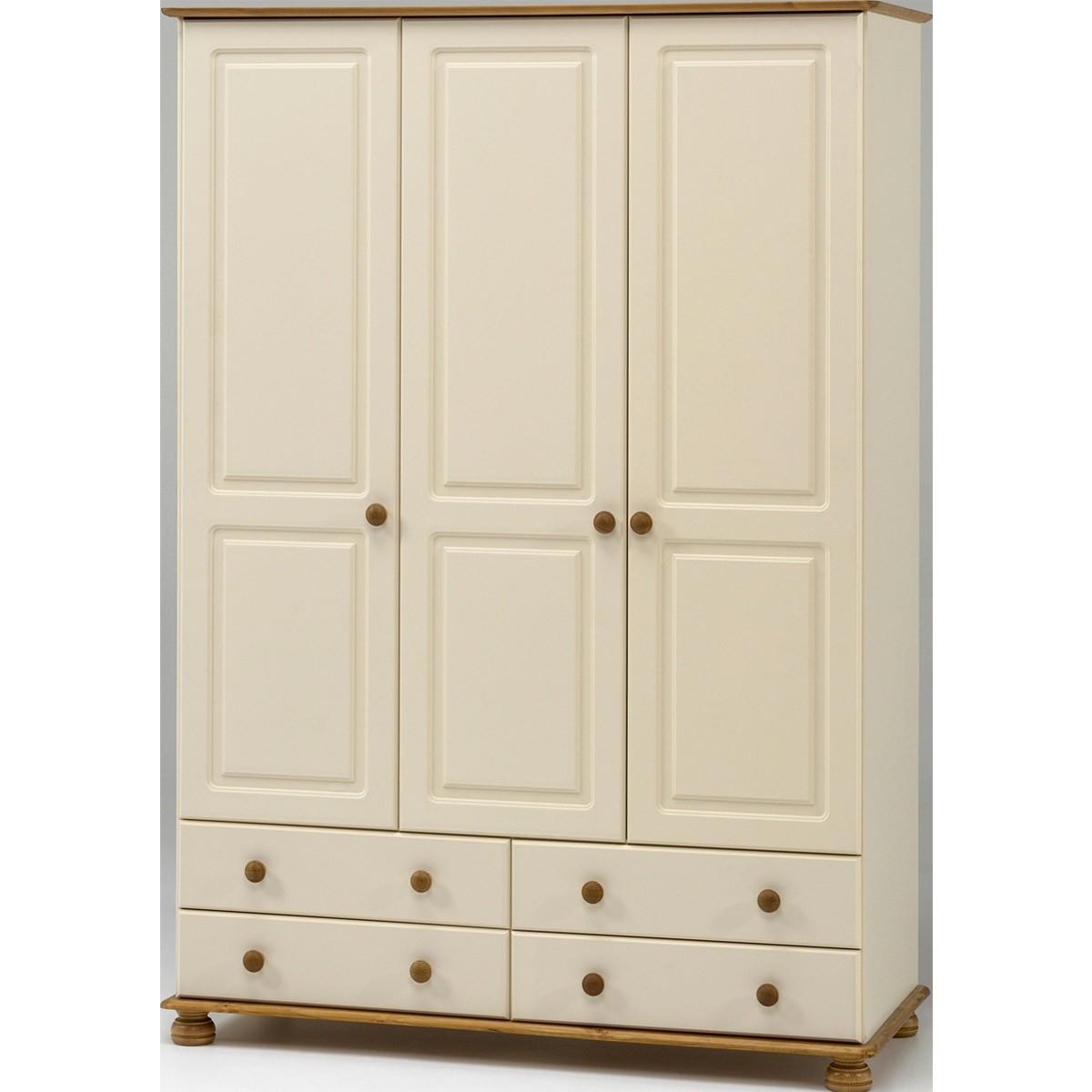 Most Recent 3 Door Pine Wardrobes Within Salisbury Cream And Pine 3 Door 4 Drawer Wardrobe From The (View 2 of 15)