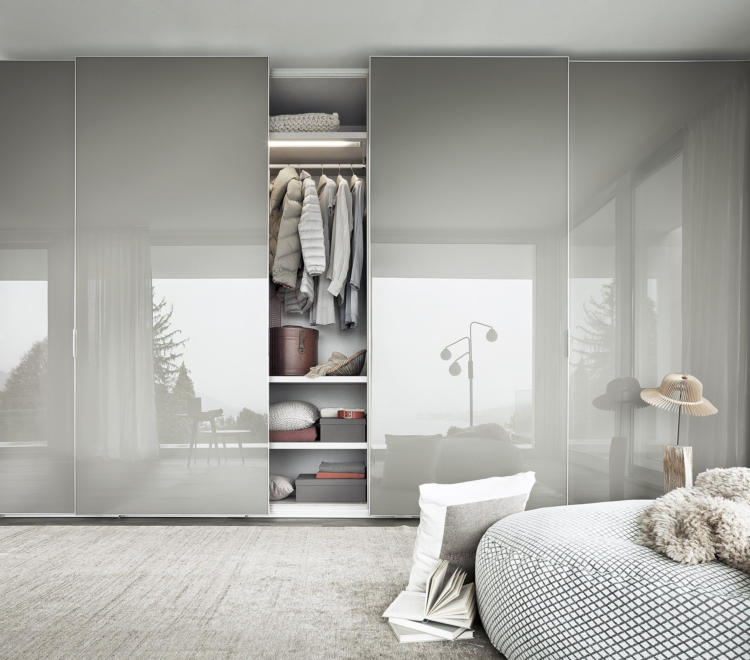 Most Recent Awesome White Gloss Wardrobes With Sliding Doors – Badotcom Within Black High Gloss Wardrobes (View 10 of 15)