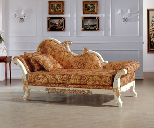 Most Recent Beautiful Luxury Italian Royal Style Chaise/ Lounge Chair/recliner Within Bedroom Sofas And Chairs (View 8 of 10)