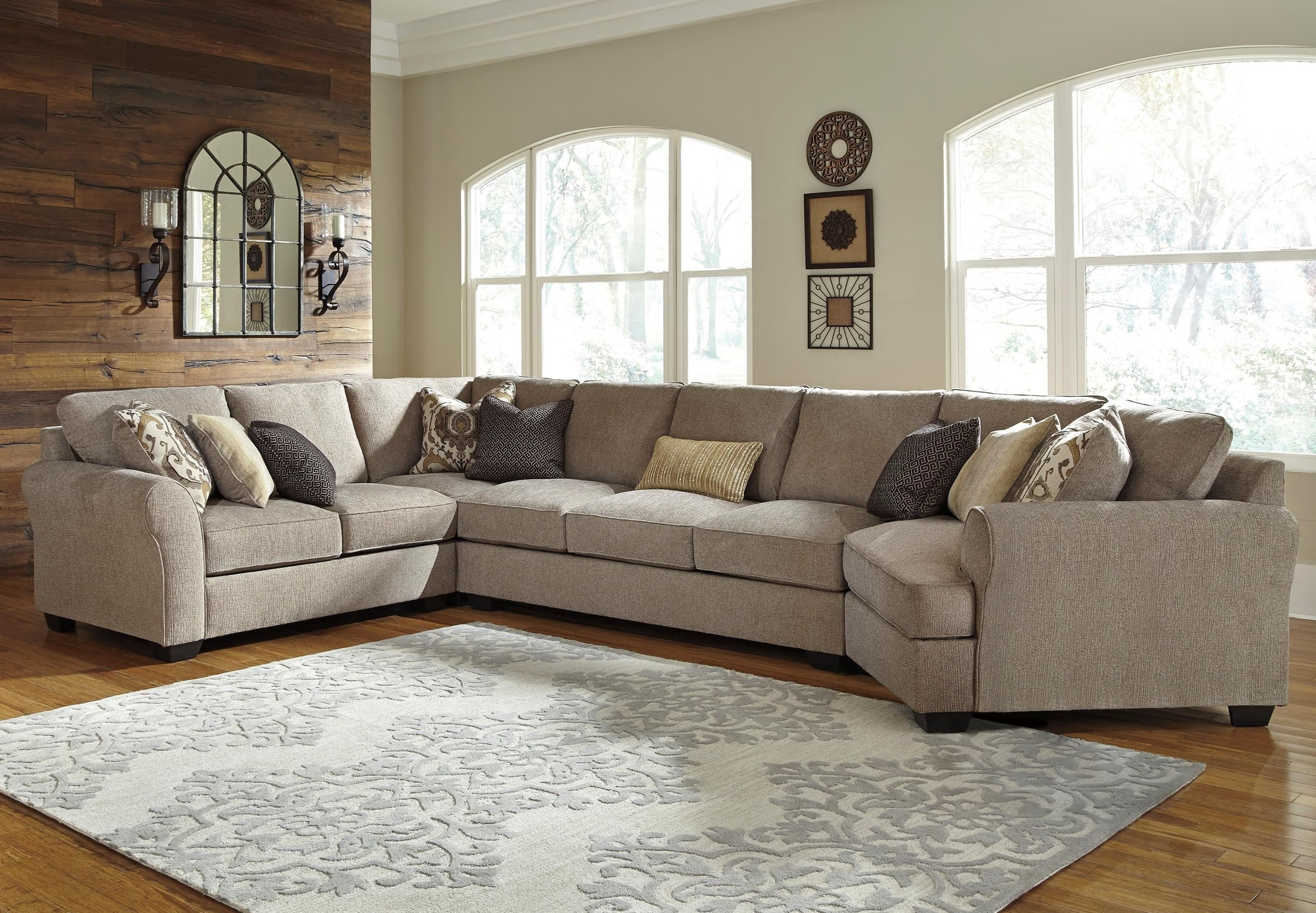 Most Recent Benchcraft Pantomine 4 Piece Sectional With Left Cuddler & Armless Intended For Sectionals With Cuddler And Chaise (View 5 of 15)