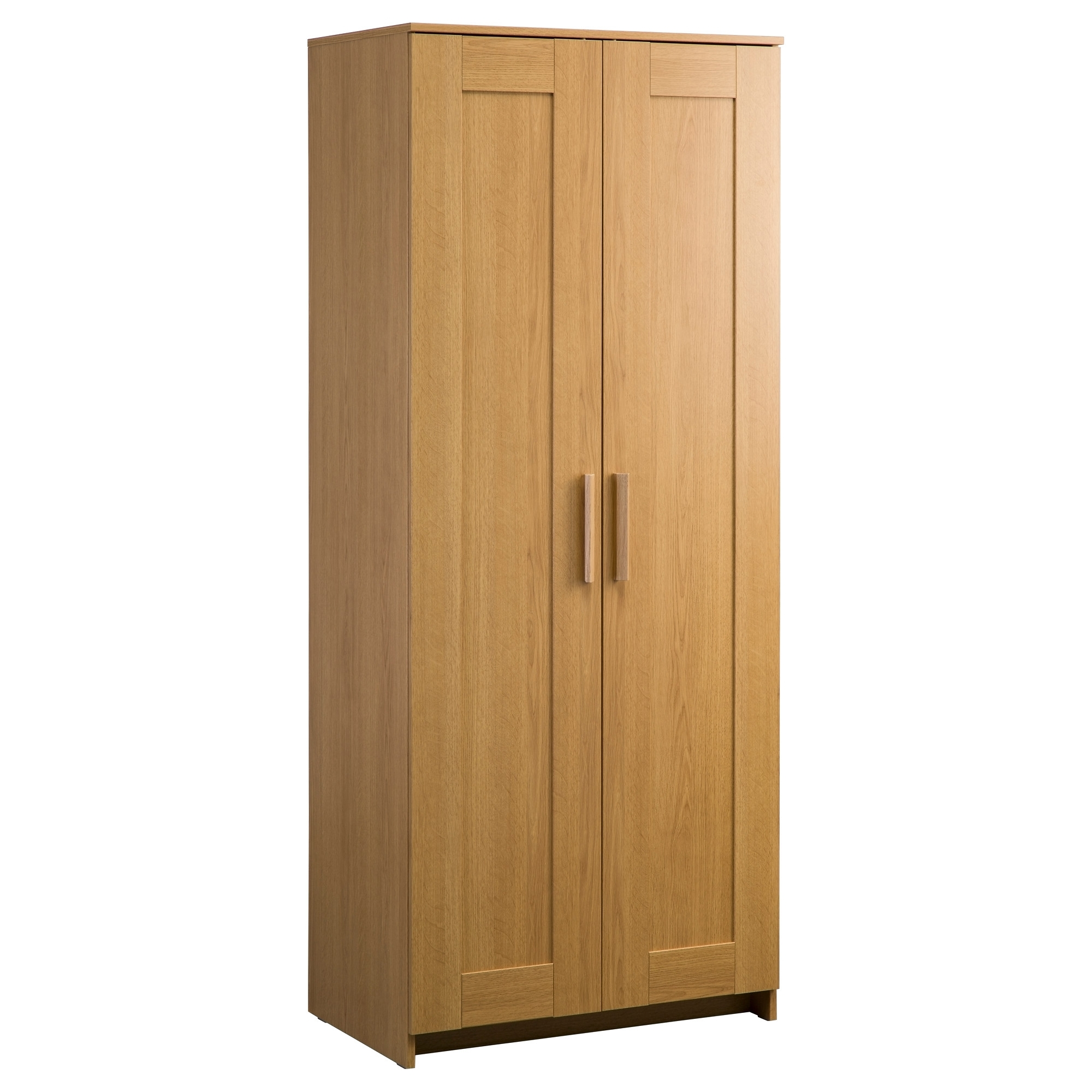 Most Recent Cheap 2 Door Wardrobes Pertaining To Brimnes Wardrobe With 3 Doors Oak Effect 117X190 Cm – Ikea (View 13 of 15)