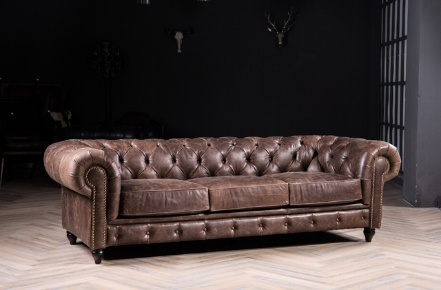 Most Recent Chesterfield Sofa Classic Sofa With Vintage Leather For Antique Throughout Classic Sofas (View 8 of 10)